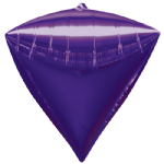 "15"" Purple Foil Diamondz balloon"